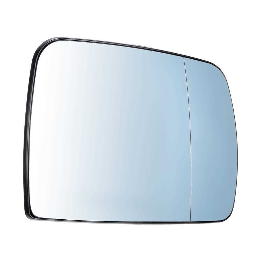 blue Pair of Side Mirror Glass Heated 51167039598 for BMW X5 E53 2000-2006