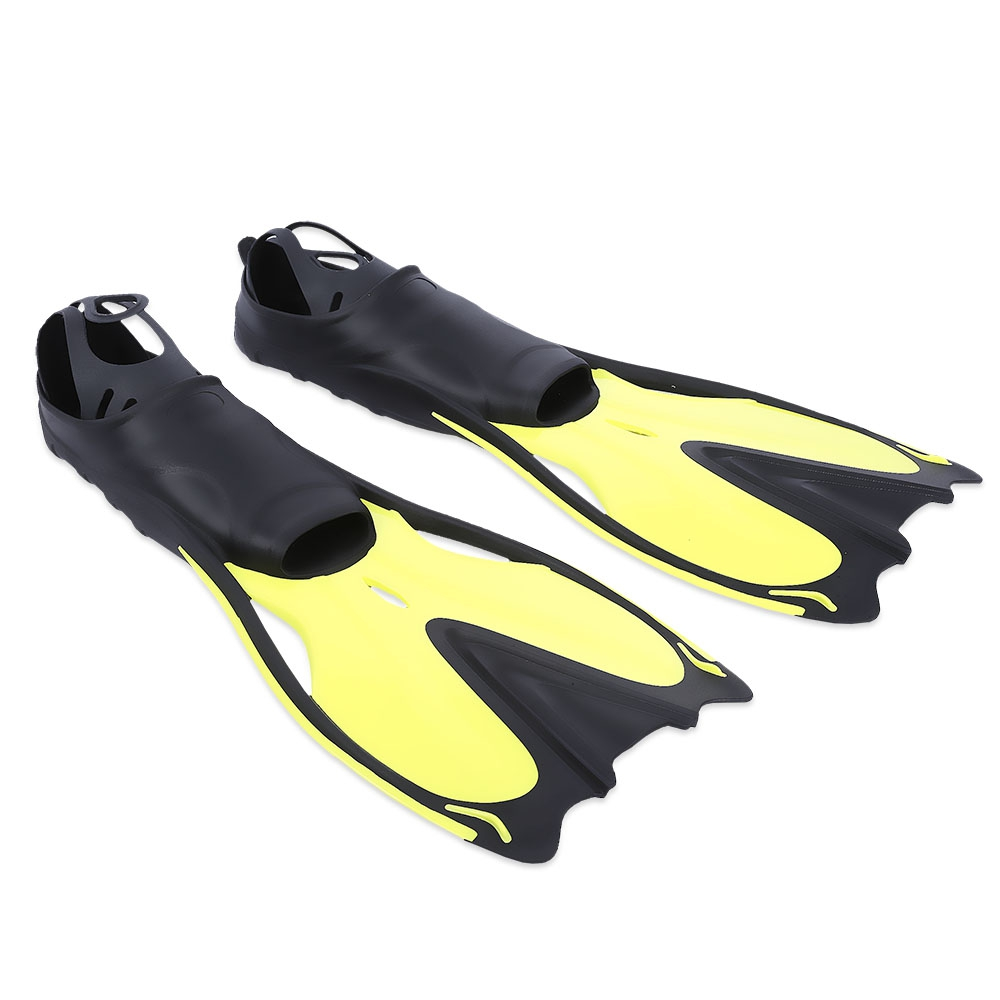 979cdd112d8a PAIRED DIVING FLIPPERS SNORKELING SHOES SWIMMING TRAINING EQUIPMENT  (YELLOW