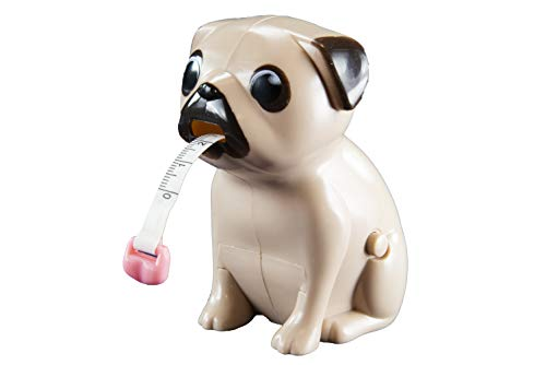Paladone Pug Tape Measure - Includes: Measurements in Both inches and Centimet