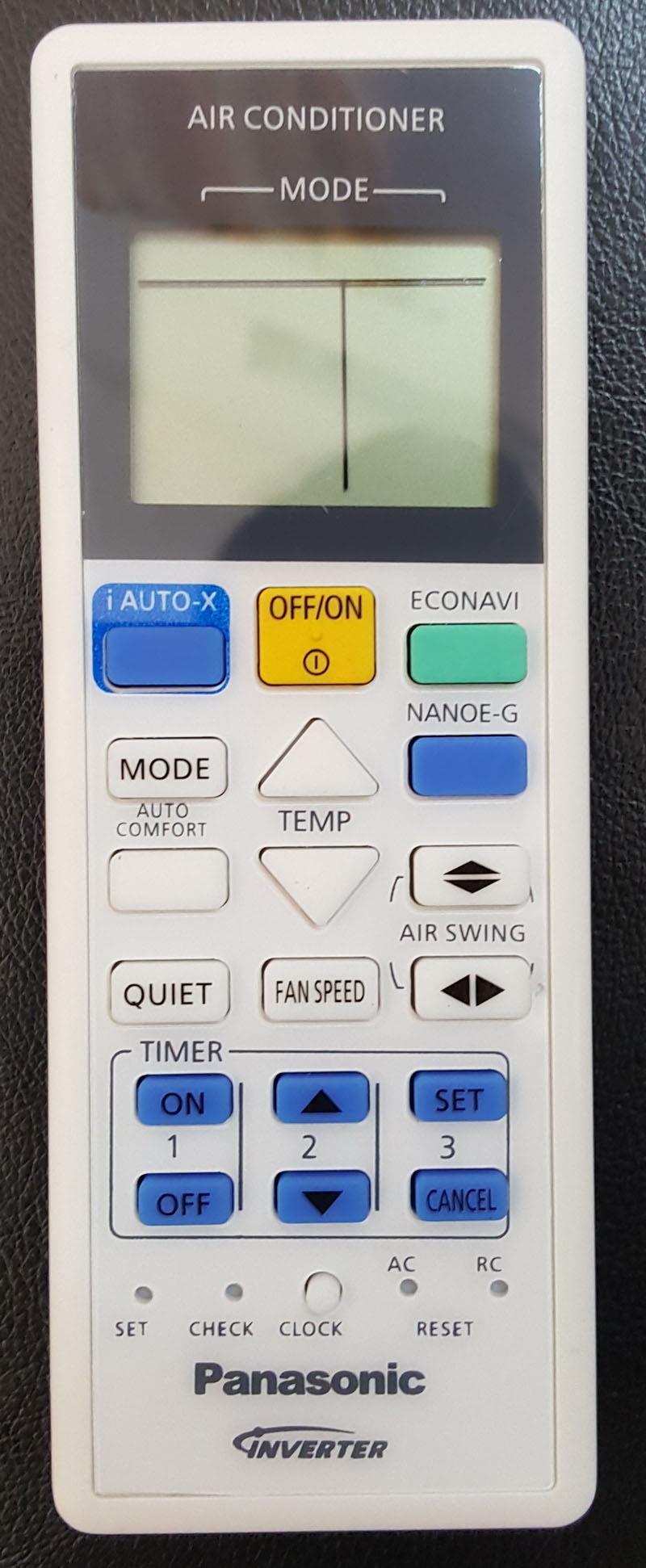 Panasonic Air Conditioner Remote Control CS-RE9SKA RE12SKA RE18SKA RE2