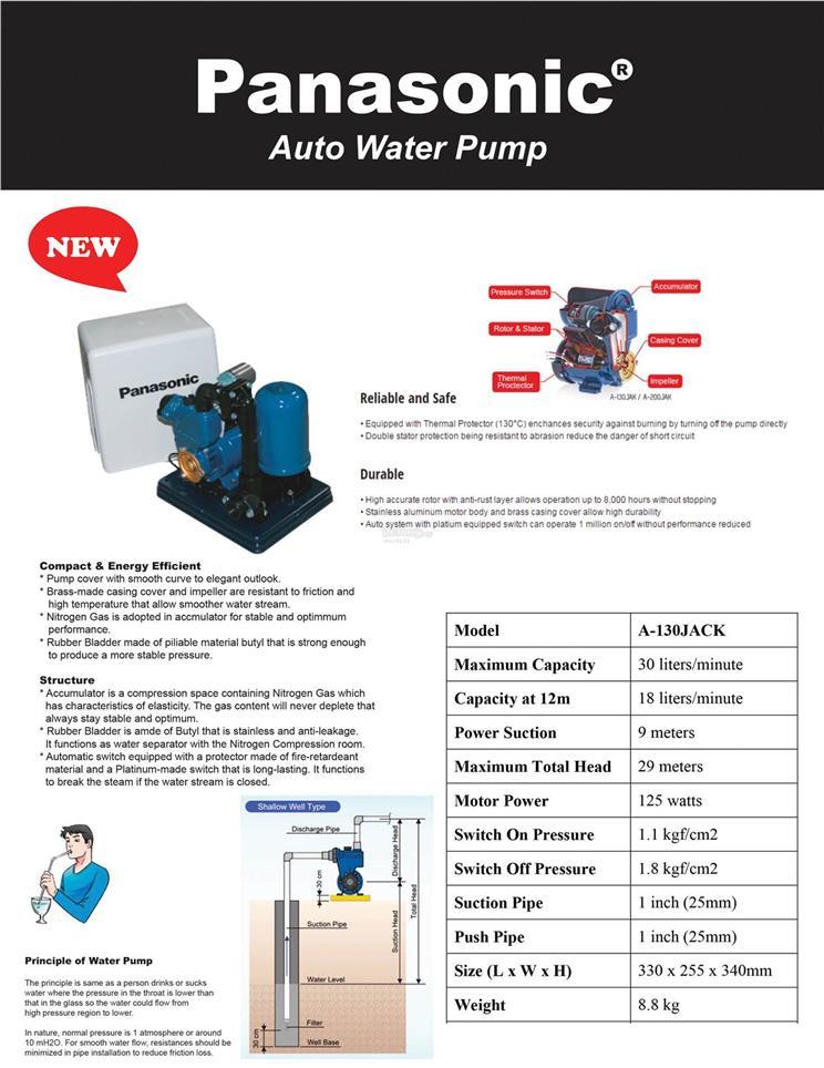 Panasonic Automatic Water Pump  End 8  8  2020 9 15 Pm
