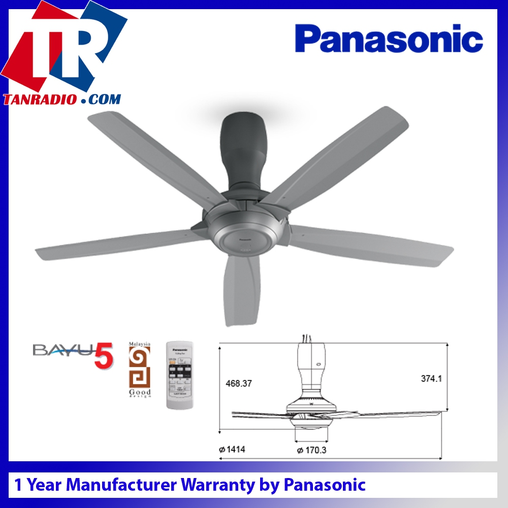 Panasonic Bayu 5 Ceiling Fan Remot End 10 29 2019 11 31 Am
