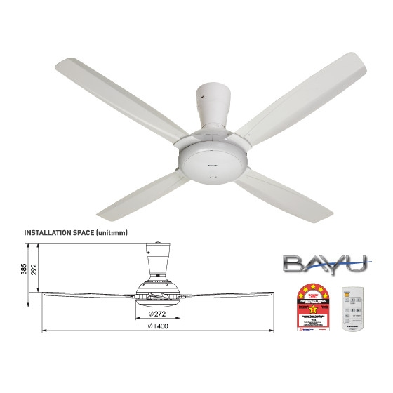 Panasonic Ceiling Fan Fm14c5wt 4b Bay End 1 5 2020 3 31 Pm