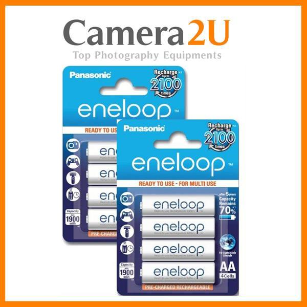 Panasonic Eneloop 4xAA 2000mah rechargeable battery (2 pack)