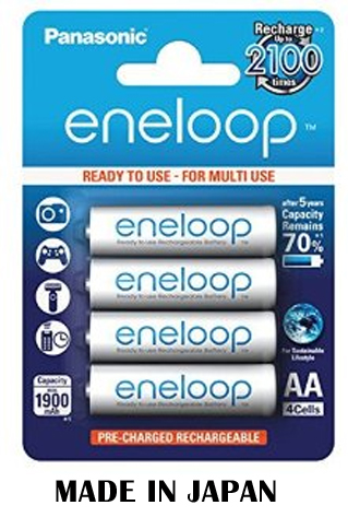 Panasonic Eneloop AA x4 2000mAh NiMH Rechargeable Battery Japan