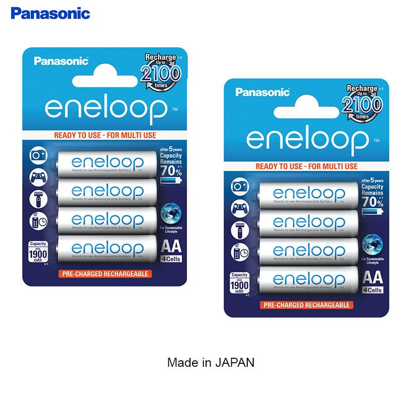 Panasonic Eneloop Recharg Battery AA 2000mah(8pcs/2 Pack)Made In Japan