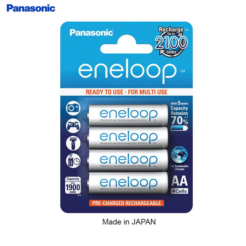 Panasonic Eneloop Rechargeable Battery AA 2000mah(4pcs)Made in Japan