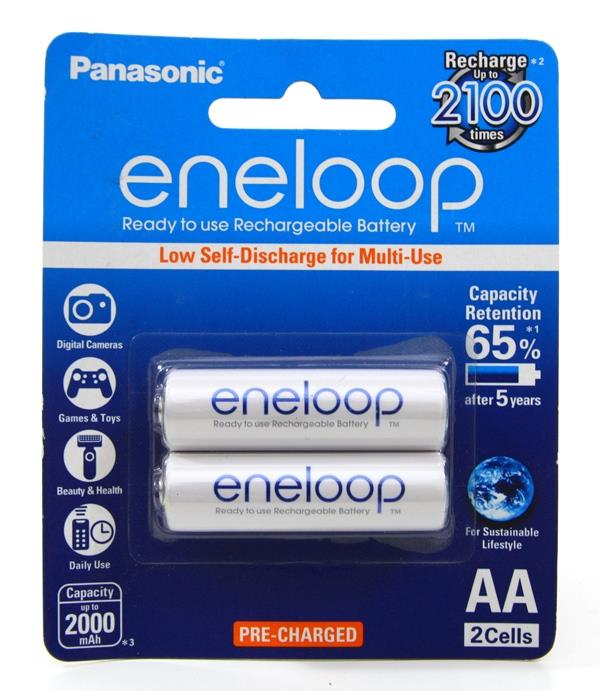 Panasonic Eneloop Rechargeable Battery AA 2pcs Batteries
