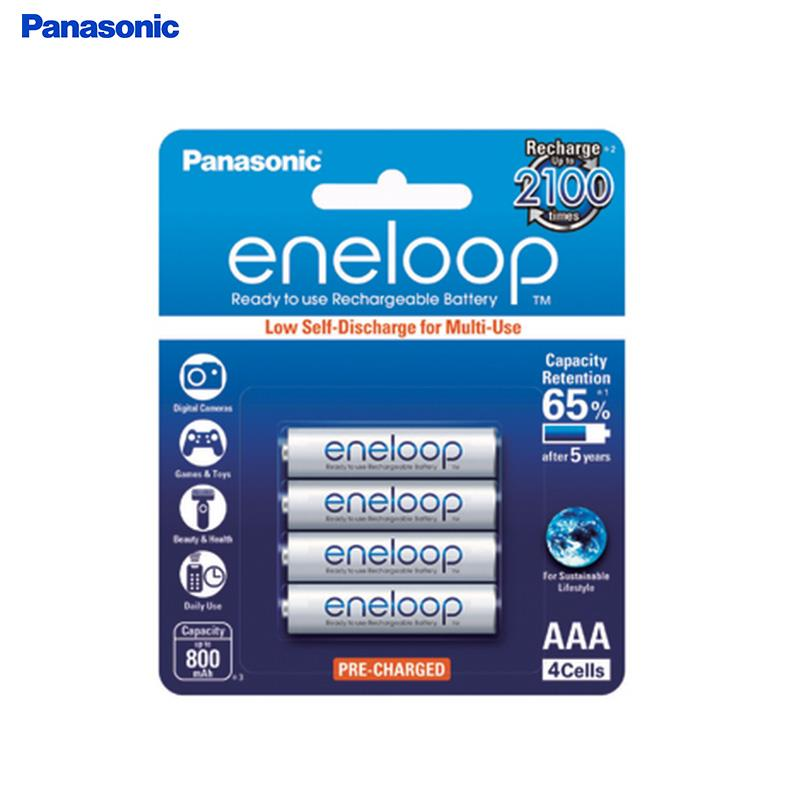 Panasonic Eneloop Rechargeable Battery AAA 750mah (Pack of 4pcs ) Made