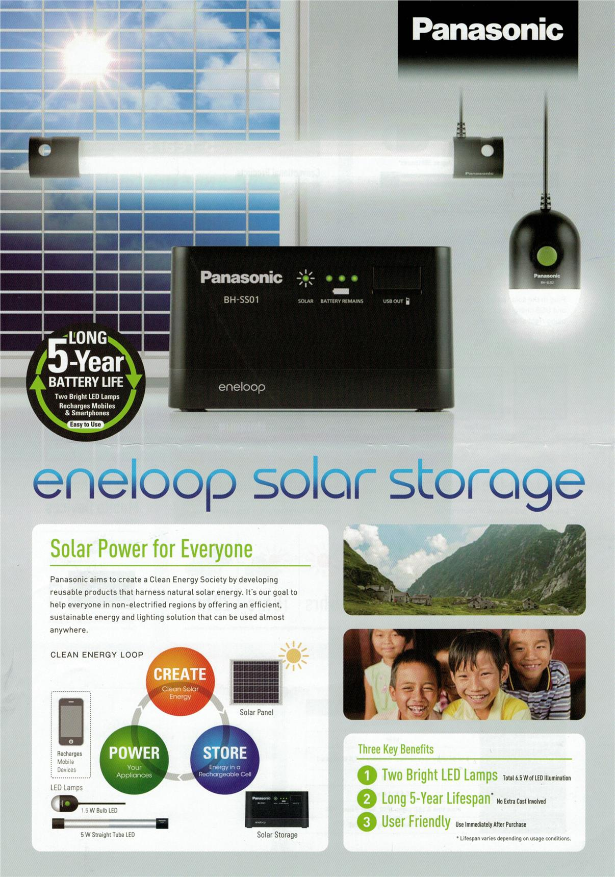 Panasonic eneloop Solar Storage Battery F-KJSS111T