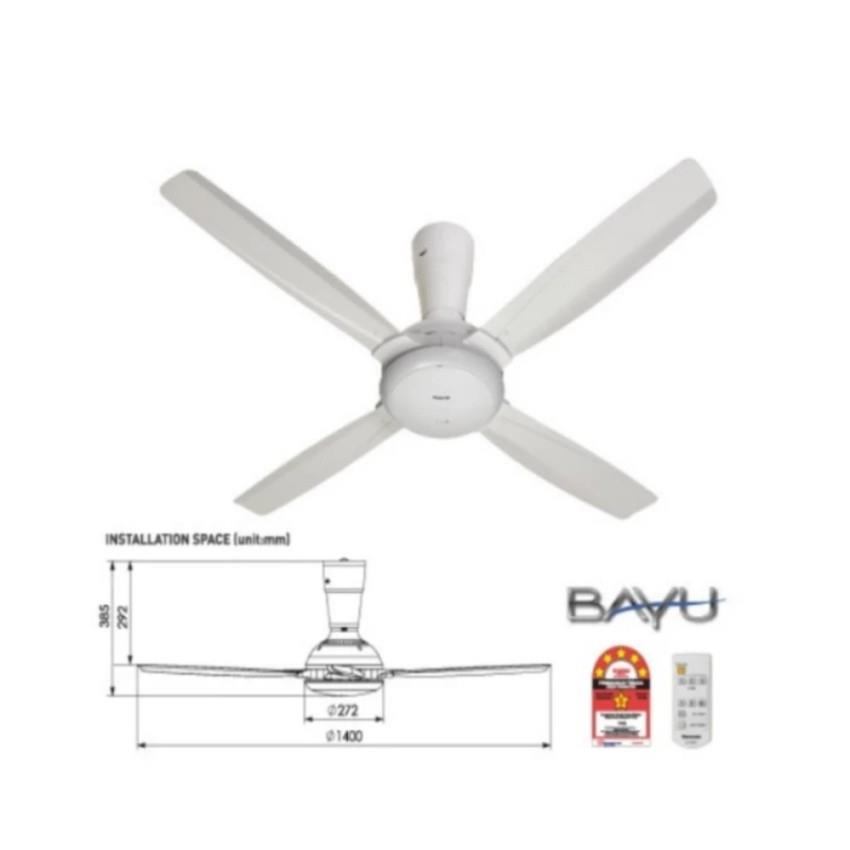Panasonic F M14c5 Wt Ceiling Fan With 4 Blade White