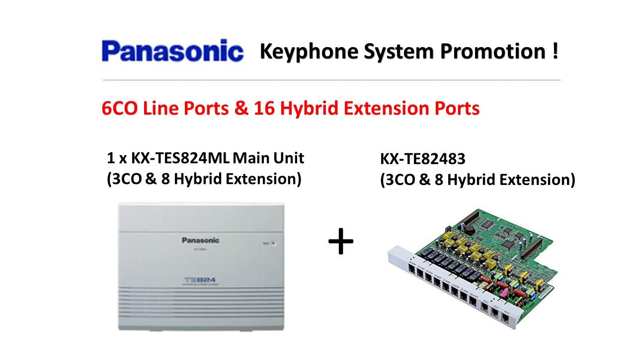 Panasonic KX-TES824ML Keyphone System PBX PABX (Package 3)