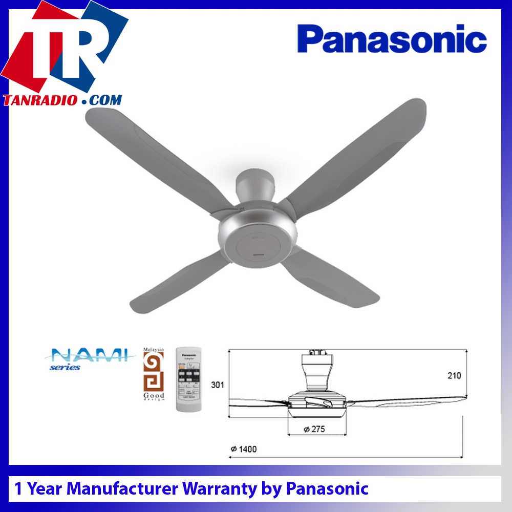 Panasonic nami 4 remote control ceil end 5202020 921 am panasonic nami 4 remote control ceiling fan f m14e2 silver grey aloadofball