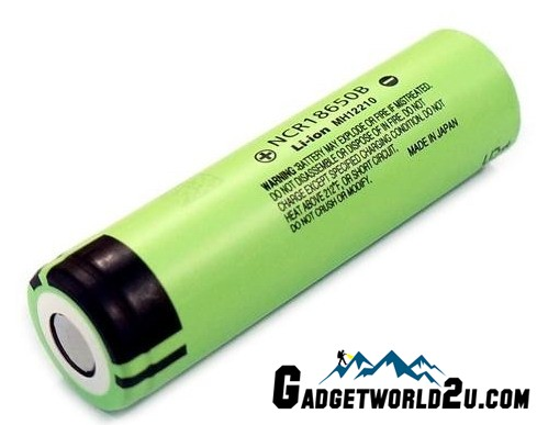 Panasonic NCR18650B 18650 3400mAh 3.7V Li-ion Recharge Battery Flat