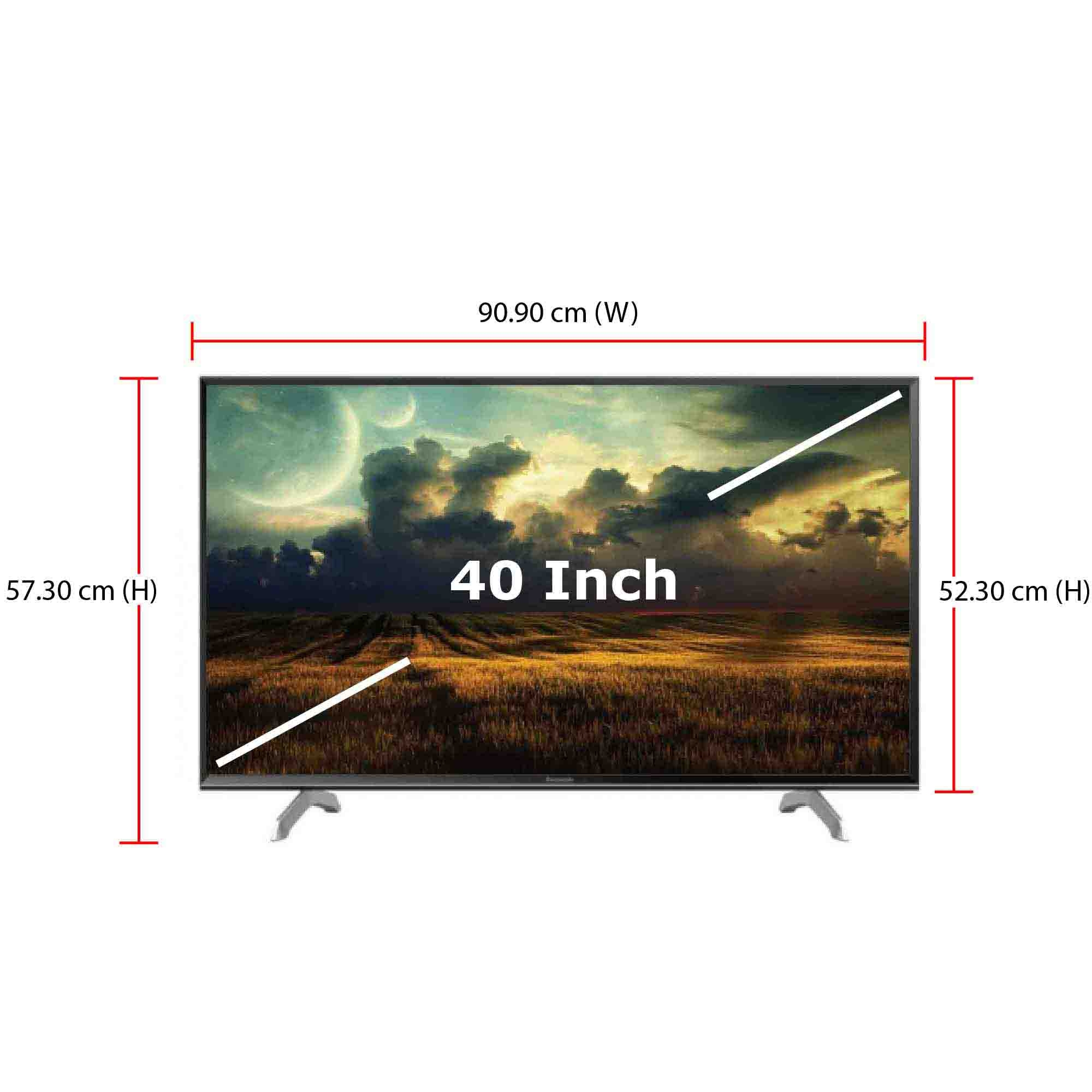 Panasonic TV 40-Inch Full HD Smart TV (2017 Model - TH-40ES501K) 3 x H