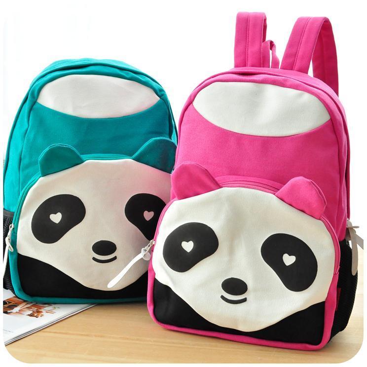Panda Backpack Canvas Fashion Travelling Bag School