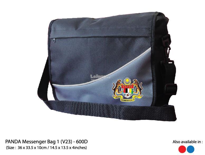 a1e018d0572d Panda Sling Bag Messenger Blue Red Grey Print Gift Corporate Custom
