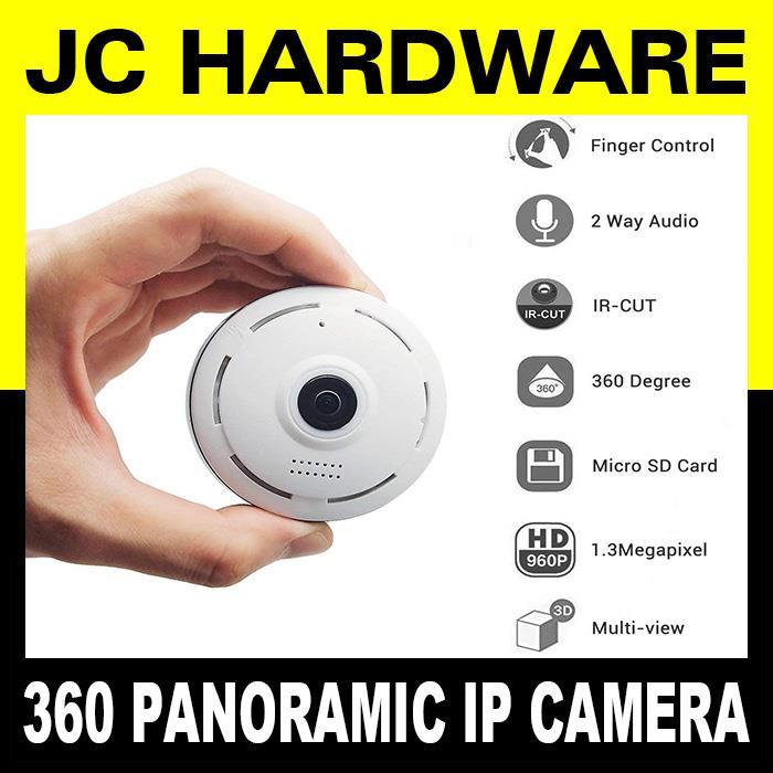 Panoramic 360 Smart Wifi Camera IP P2P VR Cam 960P HD