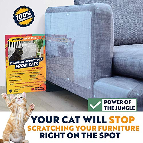 Panther Armor Furniture Protectors from Cat Scratch - 8(Eight)-Pack – Couch