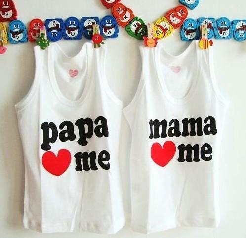 64eac987d Papa/Mama Love Me Kids Gilet/Vest (end 7/1/2019 12:00 AM)