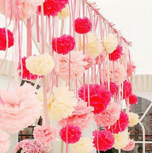 Paper Tissue Flower Decoration for Wedding/Event [DIY Paper Pom]