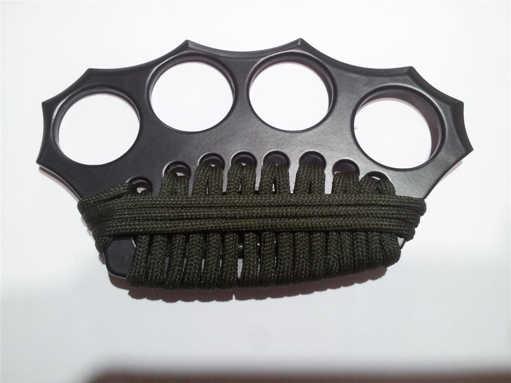 Paracord Black Brass Knuckle For Self Defends