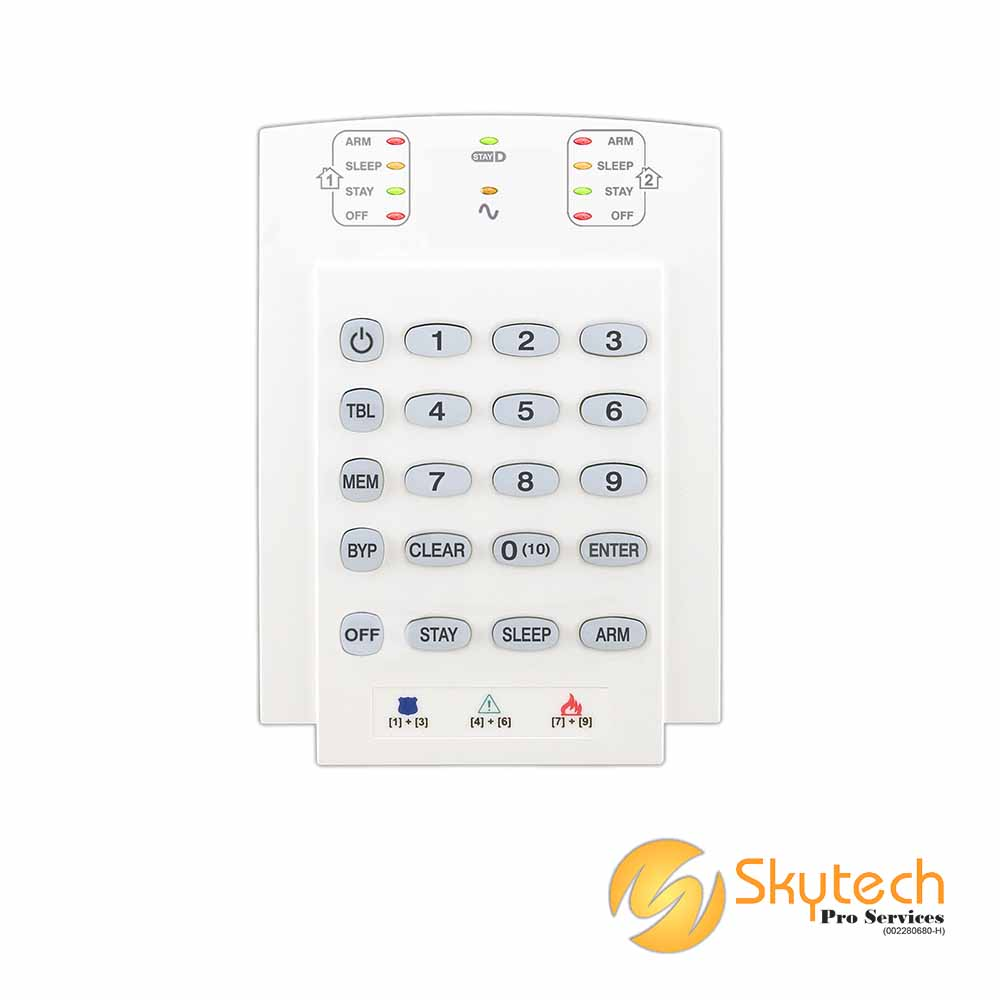 Paradox Keypad with 10 zone LED Display Horizontal (K10V)
