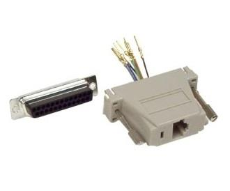 Parallel DB25 Male to RJ45 Modular Adapter Kit