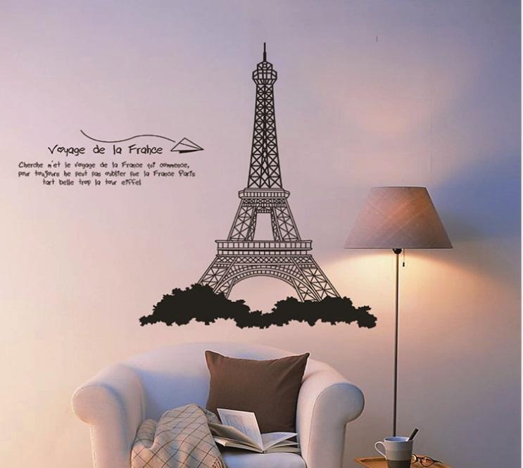 Paris Eiffel Tower Home Decor 5th Gen PVC Wall Paper