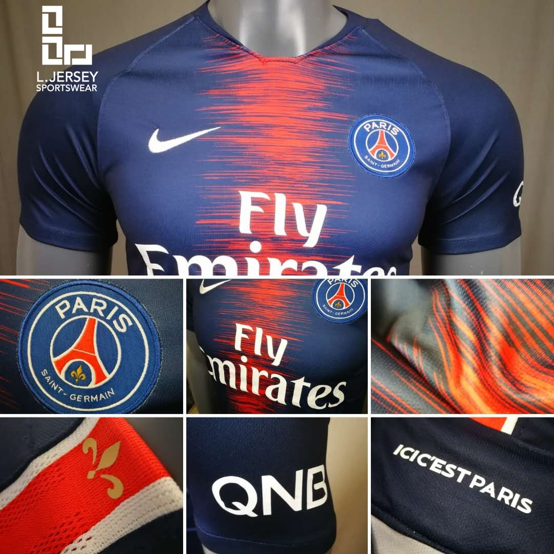 d7bccedc122 The 2018 19 Paris Saint-Germain Stadium Home Men s Football Shirt is made  with breathable