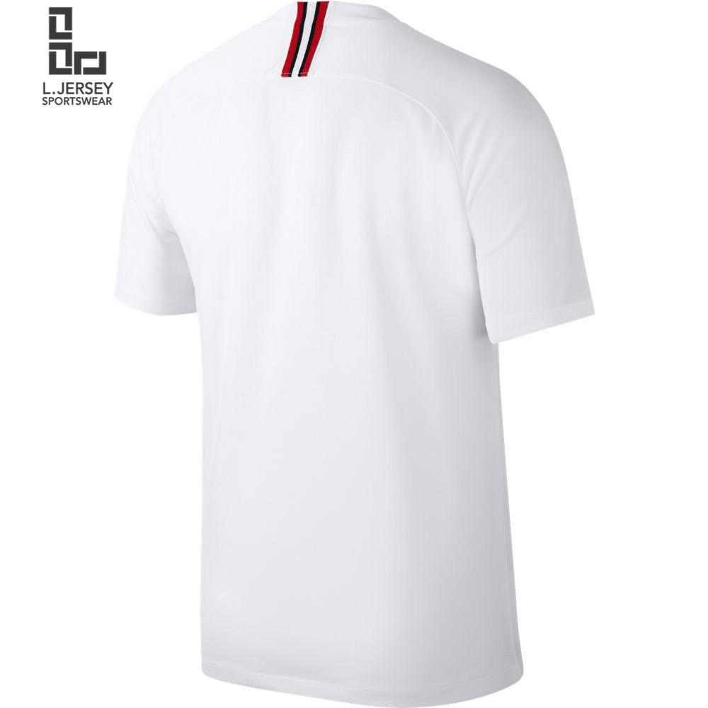 eccb2dd917a75 Paris Saint-Germain x Jordan White Men 3rd 2018/19 Fans Jersey