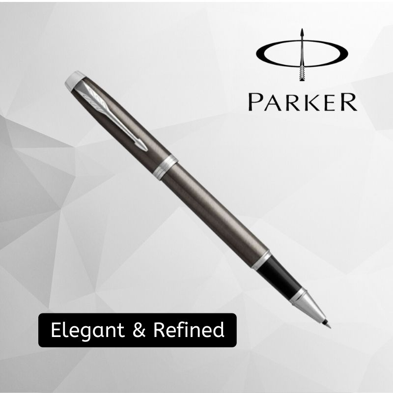 Parker IM Lacquered Dark Espresso Rollerball Pen With Chrome Trim Fine Point (