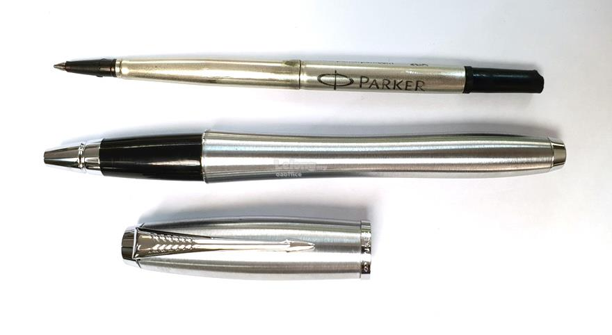 Parker Rollerball Pen Urban Stainless Steel Chrome Trim