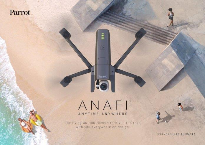 Parrot ANAFI Malaysia, Foldable Drone + Hybrid Gimbal + 4K HDR camera