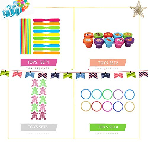 Party Favors for Kids Toy Assortment Set,Include 230PCS Carnival Prizes and Sc