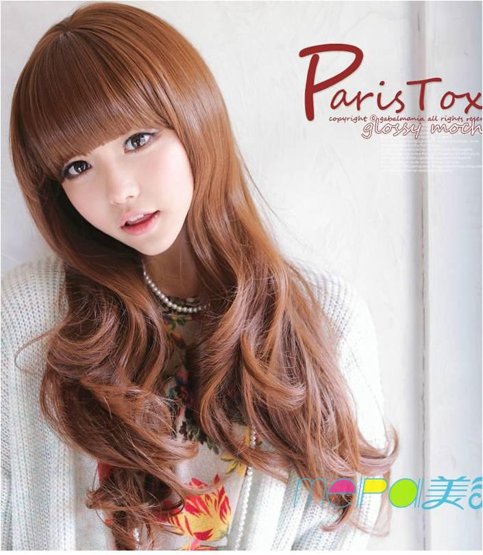 Party wig honey brown* ready stock-rambut palsu