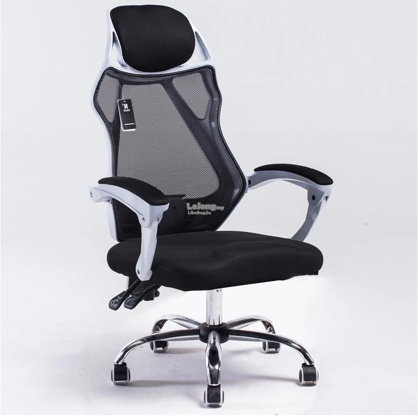 white frame office chair. patriarca white frame high mesh back curvy office chair with legrest