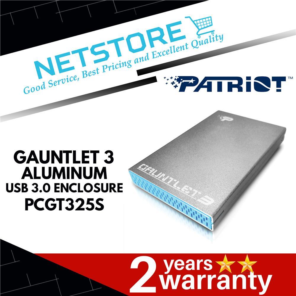 """PATRIOT GAUNTLET 3 ALUMINUM USB 3.0 External Hard Drive Enclosure 2.5"""""""