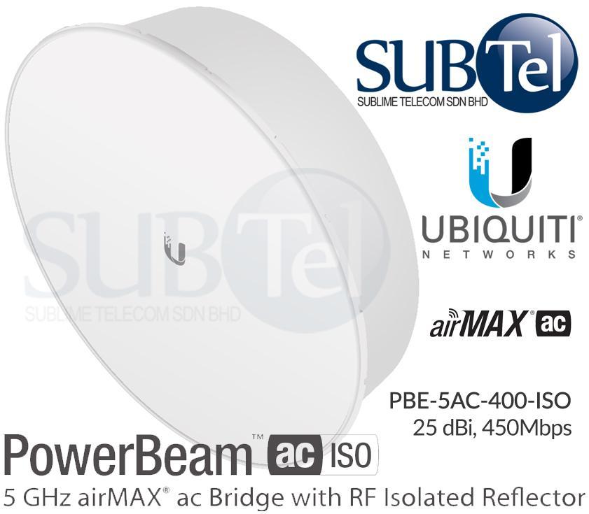 PBE-5AC-400-ISO Ubiquiti PowerBeam AC 5GHz 25 dBi RF Isolation UBNT