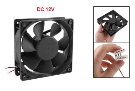 PC 12V DC Brushless Cooling Fan 4 Pin Connector 12cm 120mm