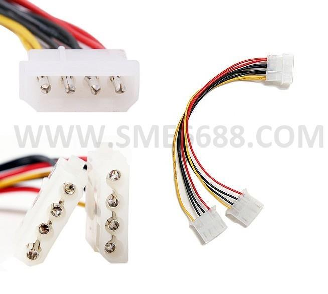 PC 4 PINs HARD DISK IDE POWER CONNECTOR SPLIT TO 2 IDE Y POWER CABLE