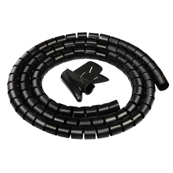 Flexible Cable Protection : Pc flexible spiral tube cable organiz end pm