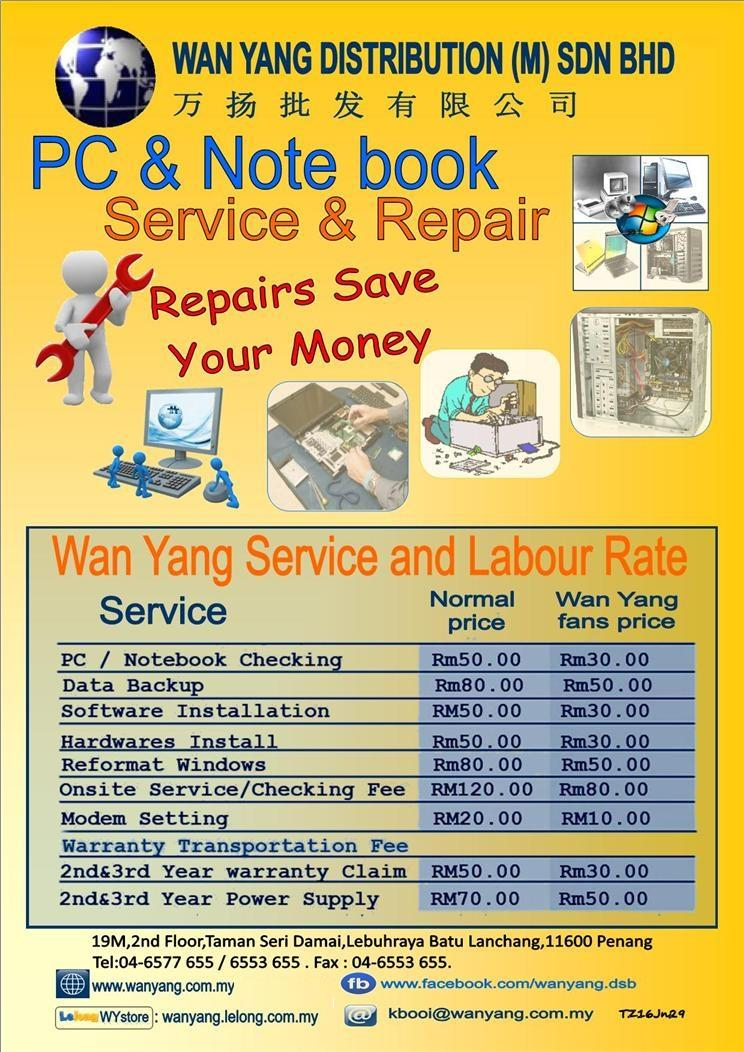 PC & NOTEBOOK SERVICE & REPAIRS