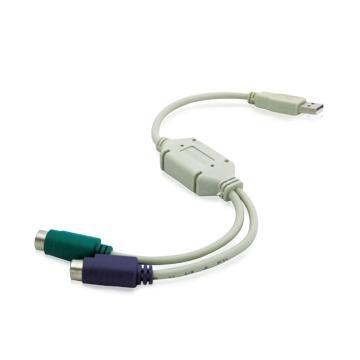 PC USB to 2 PS / 2 Converter Cable Adapter
