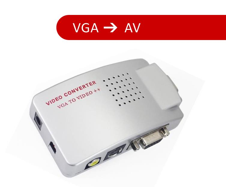 PC VGA to TV AV RCA Signal Adapter Converter Video Switch Box