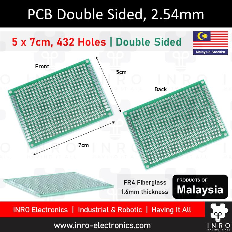 PCB, Printed Circuit Board, Donut Board, Double Sided, 5x7cm, 50x70mm