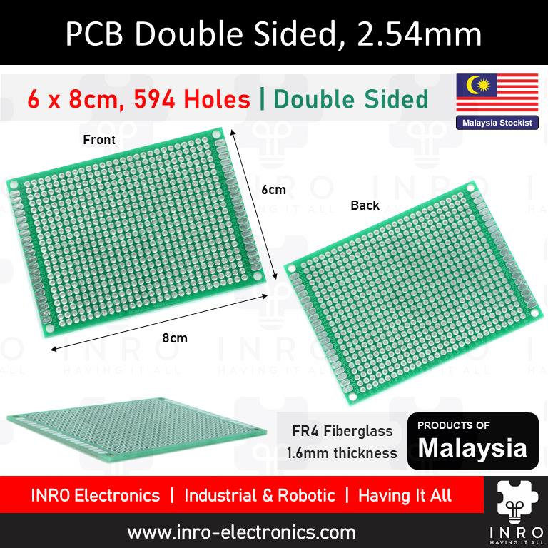 PCB, Printed Circuit Board, Donut Board, Double Sided, 6x8cm, 60x80mm