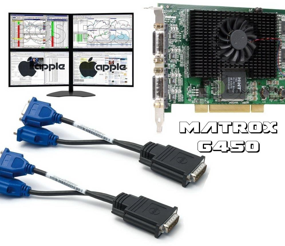 PCI Graphics Card -Matrox G45X4QUAD-BF G450  128MB