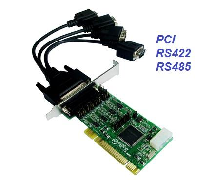PCI RS422 RS485 4-Port DB9 Serial Card