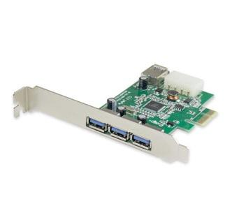PCIe USB 3.0 3+1 Port (Support IPad Charging)